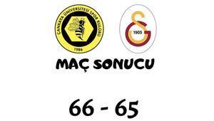 Kadınlar Basketbol Süper Ligi: Çankaya Üniversitesi 66-65 Galatasaray