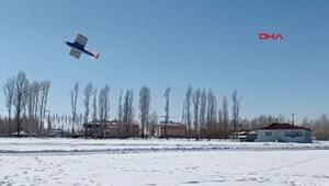 Model uçak yapıp, 20 dakika uçurdular... Kız öğrencilerden büyük başarı
