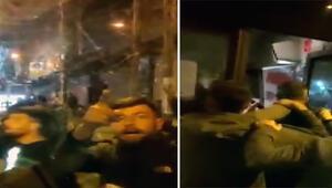 Esenyurtta iki İETT otobüsüne yumruklu tekmeli saldırı O anlar kamerada