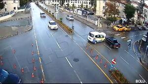 Boludaki trafik kazası güvenlik kamerasında