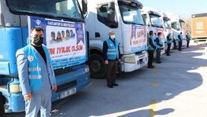 Gaziantepten, Suriyeye 4 TIR yardım gönderildi