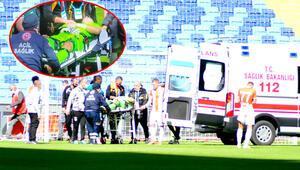 Adanaspor Giresunspor maçında korku dolu anlar Goran Karacic ambulansla hastaneye kaldırıldı