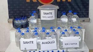 Trabzonda kaçak içki operasyonu