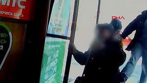 Rusyada yaşlı adama tekme atan saldırgan kamerada