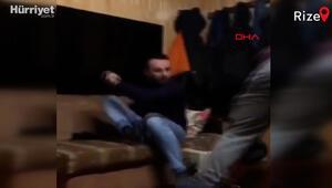 Demlik şakası yapan kuzenini plazma televizyonla kovaladı