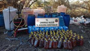 Çanakkalede 1510 litre kaçak şarap ele geçirildi