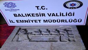 Balıkesir'de 2 bin yıllık mezar steli ele geçirildi