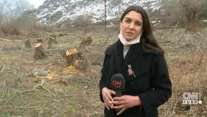 Karabağ'ın en stratejik noktası Giderken ağaçları bile kesmişler