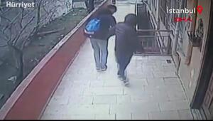 Avcılarda güvenlik kamerasını gören hırsızlar geri geri yürüyerek binaya böyle girdi