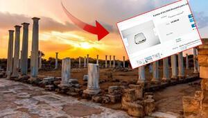 KKTCdeki Salamis harabelerine ait mermerler Rum Kesiminde online üzerinden satışa çıkarıldı