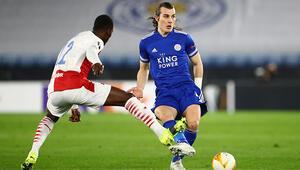 Leicester City, Avrupa Liginde Slavia Praga elendi Çağlar Söyüncü ve Cengiz Ünder...