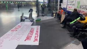 Frankfurt Havalimanı çalışanları açlık grevinde