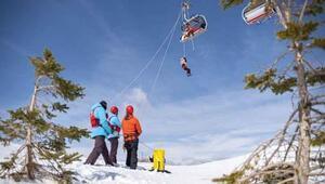 Yıldız Dağı Kayak Merkezinde kurtarma tatbikatı