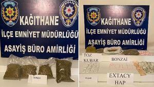 Kağıthanede dört ayrı operasyonda 87 kilo uyuşturucu ele geçirildi