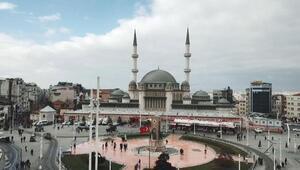 Taksim Meydanındaki caminin yüzde 99u tamamlandı İşte son durum...