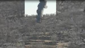 Eren-5 operasyonunda, PKKlı teröristlerin 2 sığınağı imha edildi