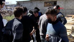 Çalıştığı atölyede kerestelerin üzerine düşmesi  sonucu Suriye uyruklu kişi yaşamını yitirdi