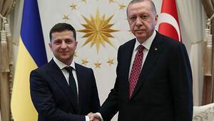 Zelenskiden Cumhurbaşkanı Erdoğana kutlama