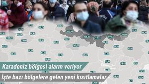 Hangi illerde koronavirüs vaka sayısı yüksek, hangi illerde düşük Bazı illerde yeni yasaklar getirildi.. İşte haftanın Kovid-19 haritasında son durum