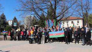 Çankırıda Azerbaycanlı öğrenciler, Hocalı Katliamını kınadı