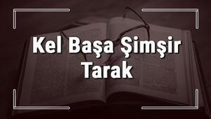 Kel Başa Şimşir Tarak atasözünün anlamı ve örnek cümle içinde kullanımı (TDK)