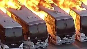 ABDde otobüs garajında büyük yangın