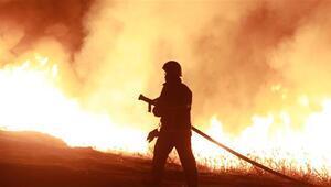 Burdur Gölündeki sazlıkta korkutan yangın
