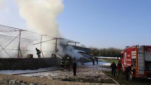 Kaynak yaparken samanlığı yaktı