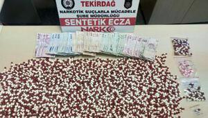 Tekirdağda 3 bin 578 uyuşturucu hap ele geçirildi