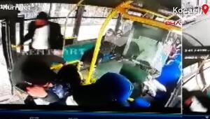 HES kodu uyarısı yapan halk otobüsü şoförüne darp kamerada
