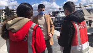 Son Dakika: Beşiktaş Sahilinde koronavirüs denetimi
