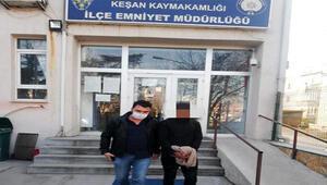 İmza atmaya gittiği emniyette arandığı belirlenince tutuklandı
