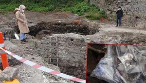 Trabzonda otopark kazısında her yerden tarihi yapılar çıkıyor