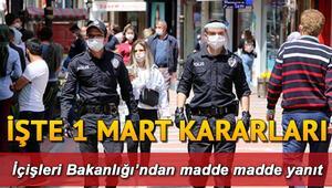 İçişleri Bakanlığından sokağa çıkma yasağı genelgesi yayınlandı