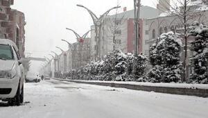 Erciş, kar yağışıyla bembeyaz oldu