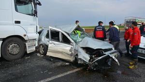 Siverek'te zincirleme kaza: 1 ölü, 1 yaralı
