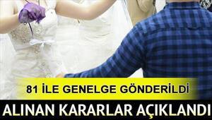 Düğünlerle ilgili yeni karar Kişi sayısı sınırlı olacak