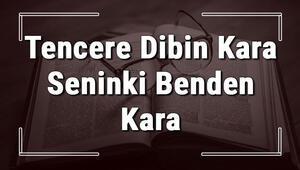 Tencere Dibin Kara Seninki Benden Kara atasözünün anlamı ve örnek cümle içinde kullanımı (TDK)