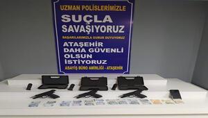 Ataşehirde yasa dışı silah ticareti yapanlara operasyon