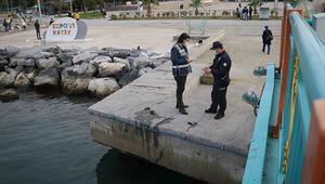 Hatayda amatör balıkçının oltasına tabanca takıldı