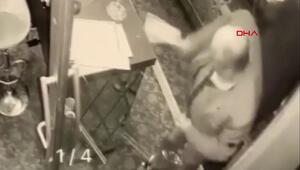 Ataşehirde otelde satırlı saldırı anı kamerada