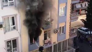 Yangında, anne ile kızı dumandan etkilendi