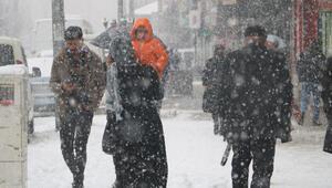 Yüksekovada yoğun kar yağışı