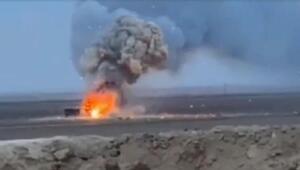 Suriyede Mehmetçiğin durdurduğu patlayıcı yüklü araç imha edildi