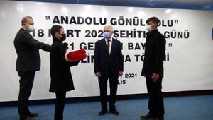 Türk bayrağı Kilis'ten Çanakkaleye uğurlandı
