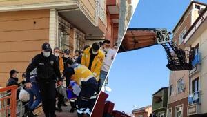 İstanbul Kağıthanede hareketli dakikalar: Bir koca, eşi ve çocuklarıyla birlikte kendini eve kilitledi
