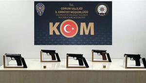 Çorumda silah kaçakçılığı iddiasıyla 3 şüpheli tutuklandı