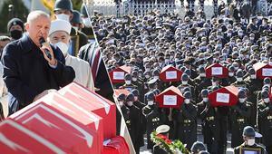 Kahramanlar için Ankara'da acı veda... Türkiye şehitlerini uğurladı