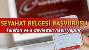 SMS ve E-Devlet ile seyahat izin belgesi alma ekranı
