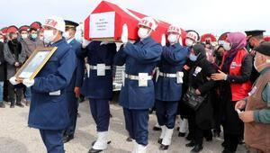 Helikopter kazasında şehit olan Tolga Demirci, Kayseride toprağa verildi
